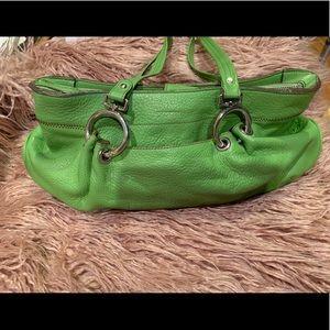 Maxx New York Kelly Green Medium Leather Satchel
